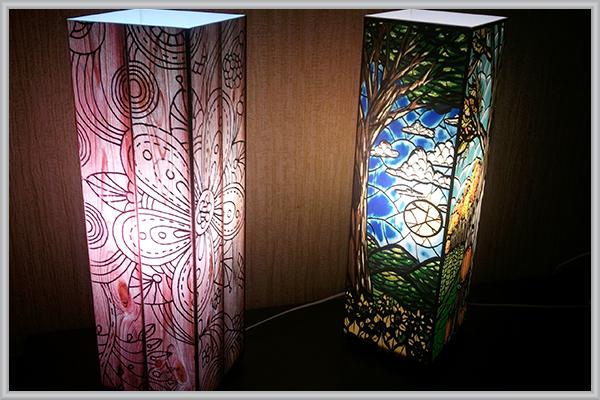 Дизайнерские интерьерные светильники из акрила