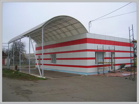 Здание после облицовки АКП