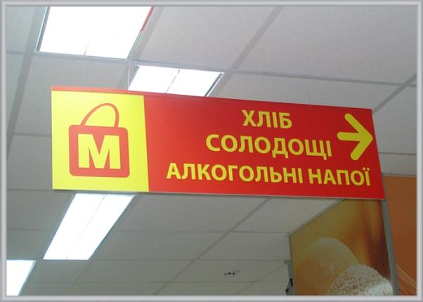 Навігація в магазині - вказівник напрямку