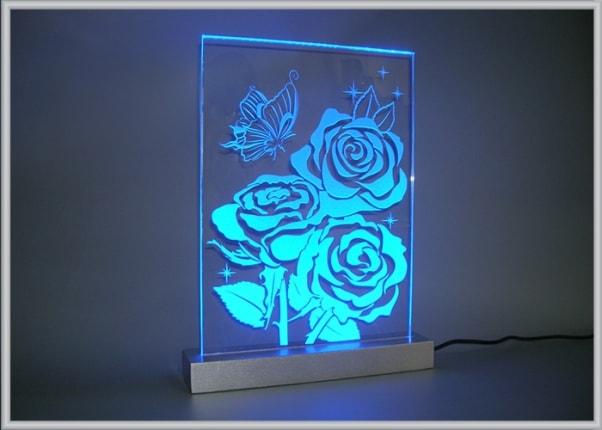 Акрилайт - настольный светильник ночник