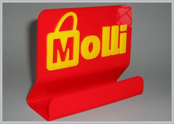 Пластикова підставка під візитки з логотипом