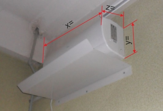 Размер дифлектора, защитного экрана для кондиционера