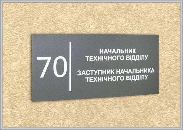 Табличка на двері для аграрної компанії
