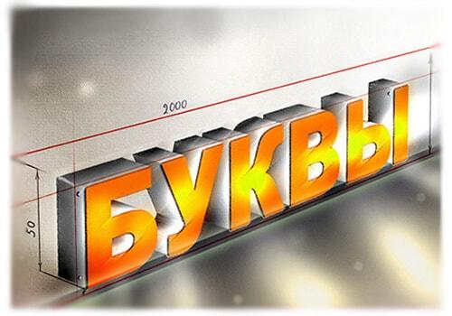Объемные буквы, символы