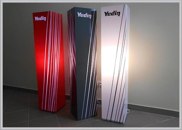 Дизайнерские, корпоративные светильники с логотипом