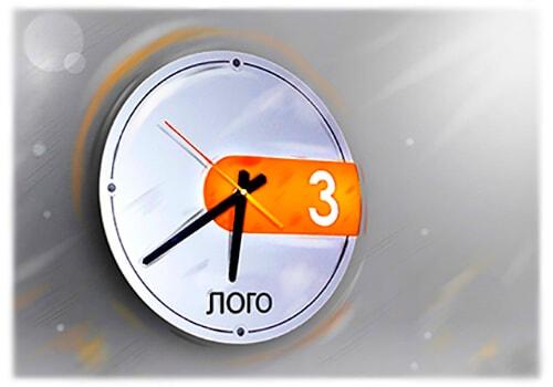 Корпоративные, настенные часы с логотипом