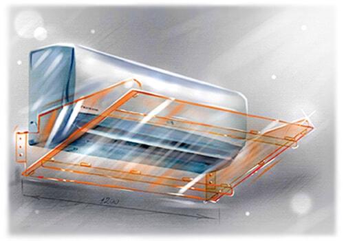 Защитный экран-отражатель для кондиционера