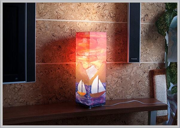 Інтер'єрний світильник в кімнату прямокутної форми