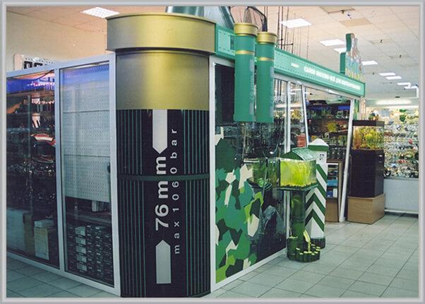 Оформление интерьера в торговом центре