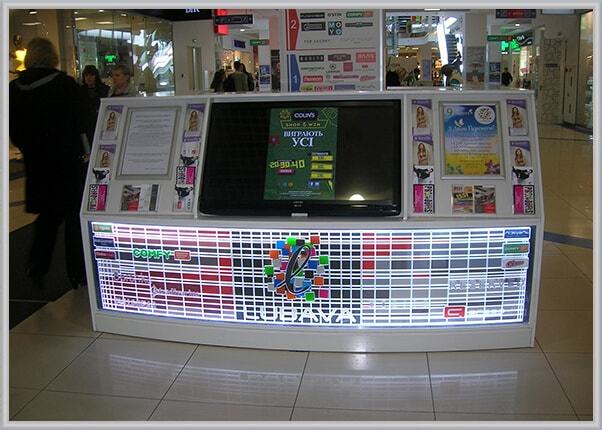 Акрилайт, световая панель торгового центра