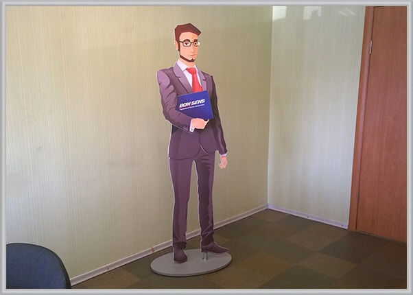 Разборная ростовая фигура, боди стенд, жилон корпоративного персонажа