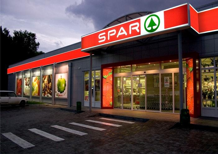 Світлова вивіска супермаркета
