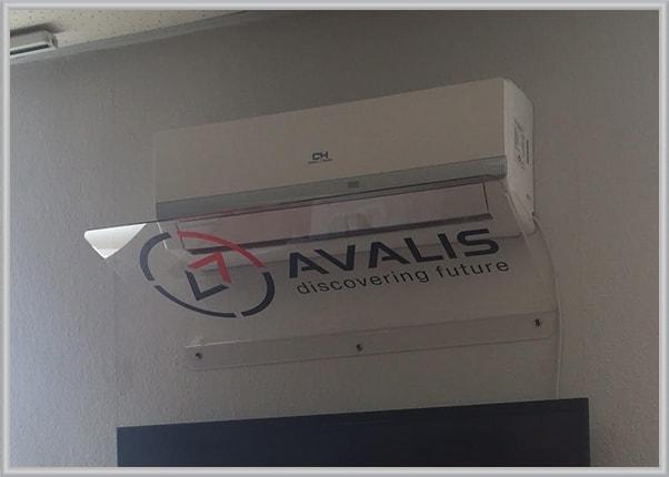 Защитный экран для кондиционера с логотипом
