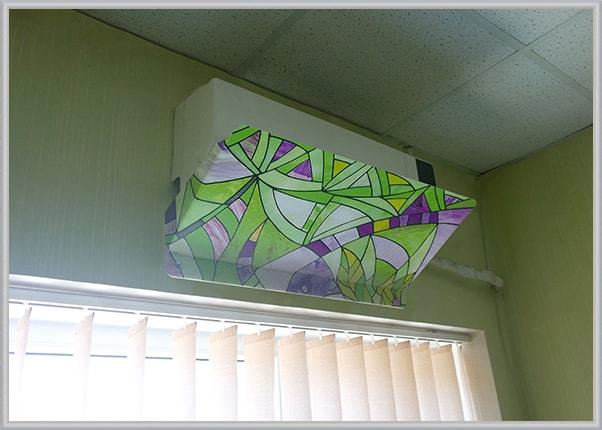 Захисний екран кондиціонера для дома