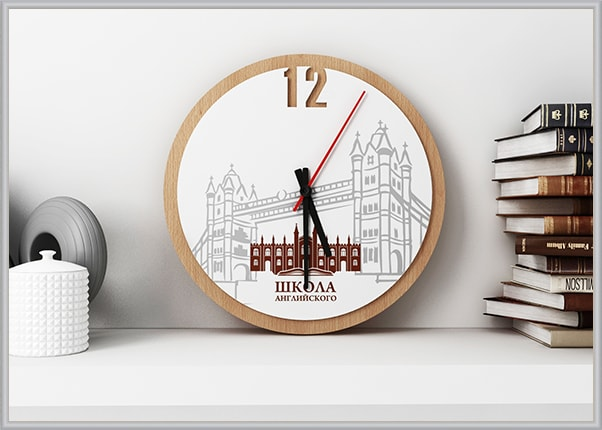 Акриловые часы с логотипом