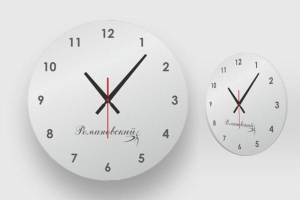 Характеристики, размер настенных часов из акрила, пластика, оргстекла КР-0042