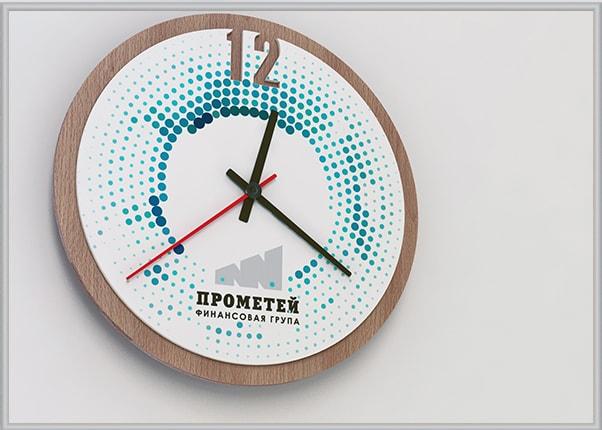 Пластиковые часы с логотипом