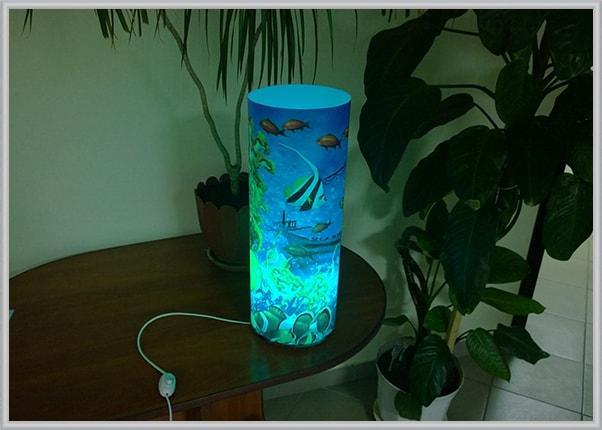 Дизайнерский свтельник меняющий цвет Flami-RGB