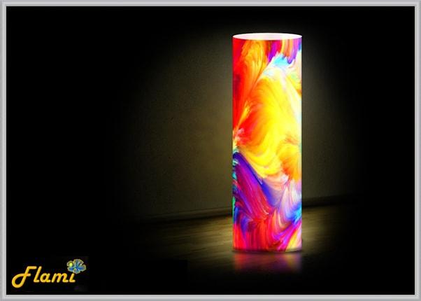 Интерьерный светильник, абстракция цвета