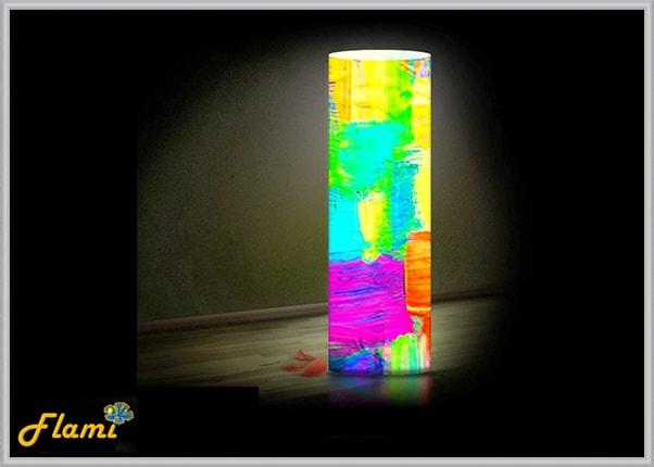 Пластиковый светильник абстракция Краски