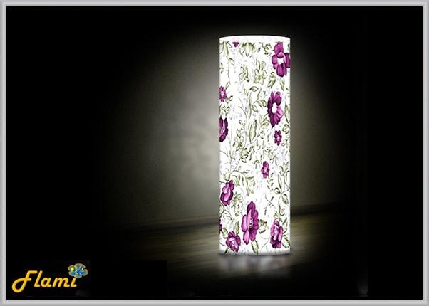 Пластиковый дизайнерский светильник Цветы