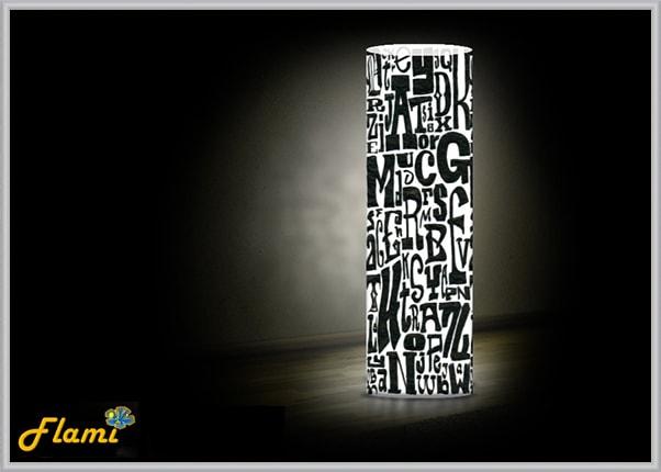 Светильник из пластика Шрифты