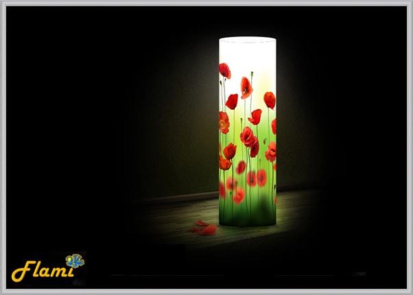 Интерьерный светильник из акрила Маки