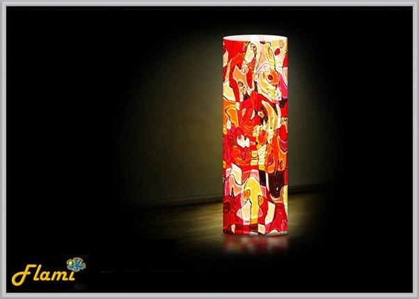 Декоративный дизайнерский светильник Красный витраж