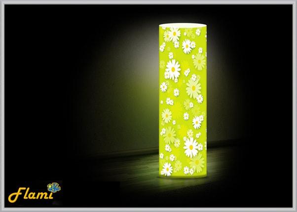 Настольный светильник из акрила Ромашки