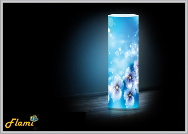 Дизайнерский светильник из акрила Синева