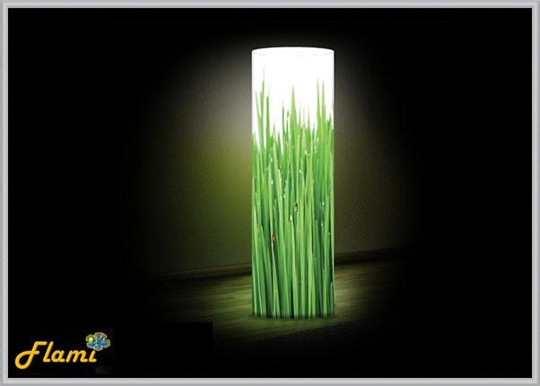 Дизайнерский настольный светильник из акрила - Трава
