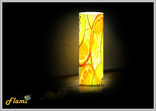 Настольный пластиковый светильник Цитрусы