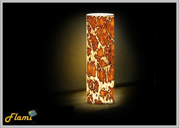 Светильник из акрила - темная глина