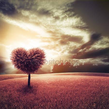 Принт для дизайнерского светильника - Дерево-сердце