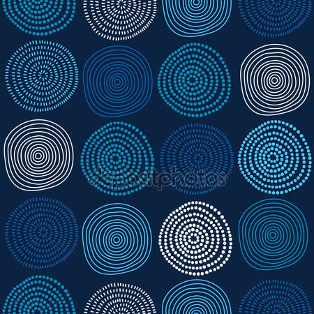 Принт для дизайнерського світильника - Кола абстракція