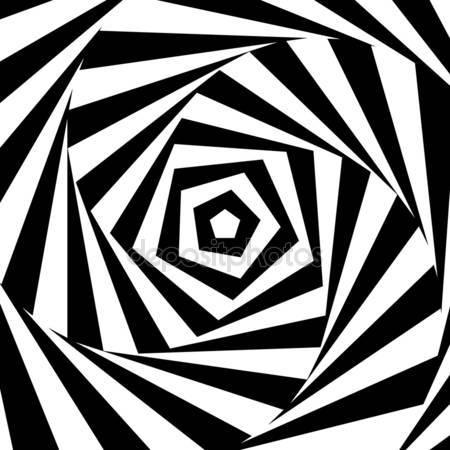 Принт для дизайнерского светильника - Черная спираль