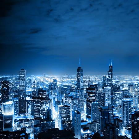 Принт для дизайнерского светильника - Чикаго