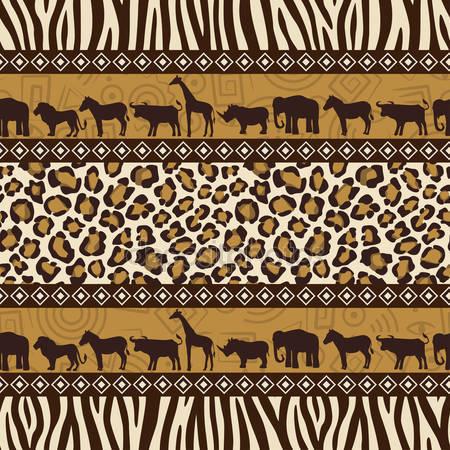 Принт для дизайнерского светильника - Африка