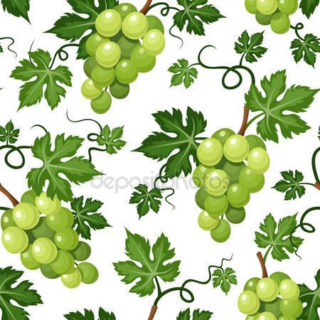 Принт для дизайнерского светильника - Зеленый виноград