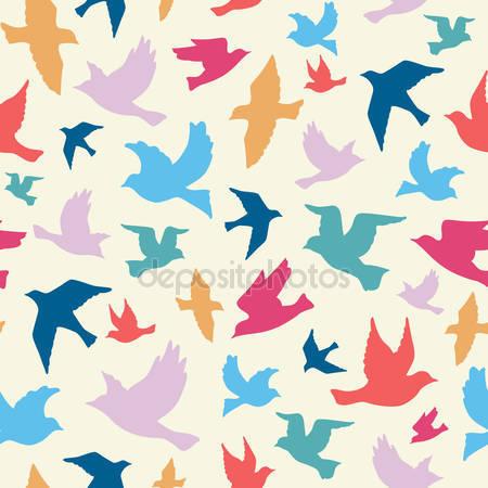 Принт для дизайнерского детского светильника - Птицы