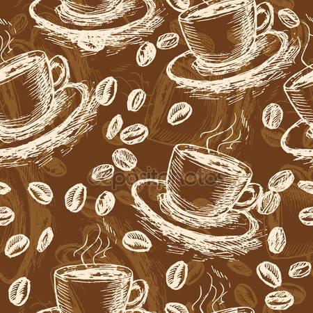 Принт для дизайнерского светильника - Чашка кофе