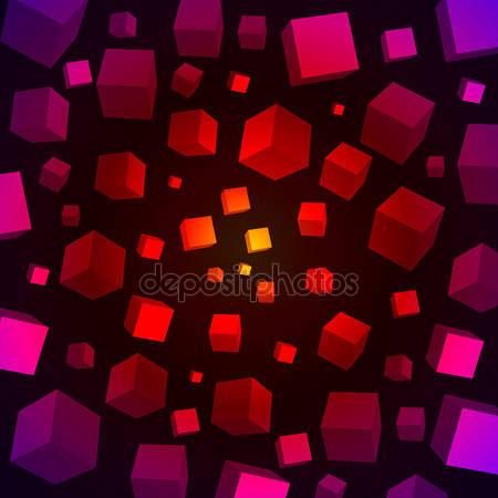 Принт для дизайнерского светильника - 3D куб