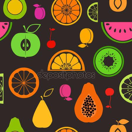 Принт для дизайнерского светильника - Половинки фруктов