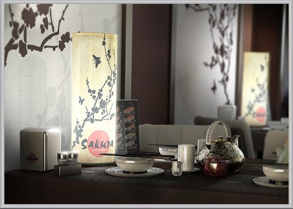 Декоративний світильник для ресторана