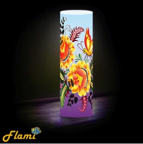 Дизайнерский светильник с Петриковсой росписью