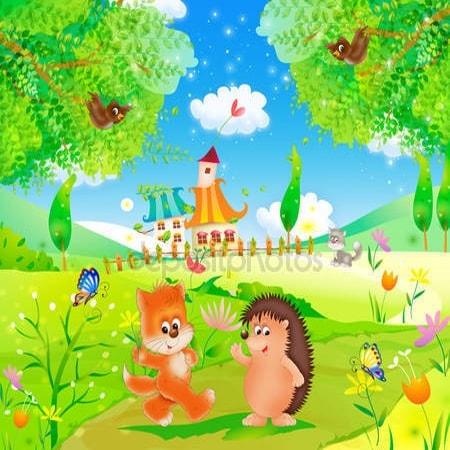 Принт для дизайнерского детского светильника - Сказка