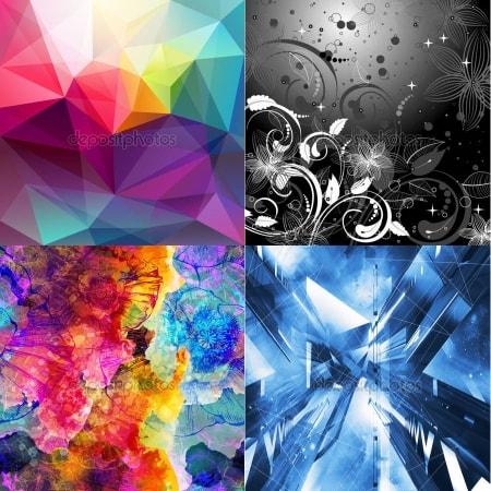 Изображения для светильников с фотобанка - тематика Абстракции