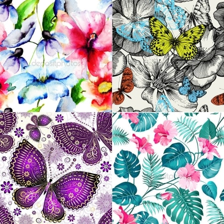 Изображения для светильников с фотобанка - тематика Цветы, растения