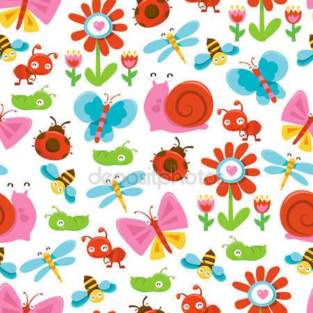 Принт для дизайнерського дитячого світильника - Садові букашки