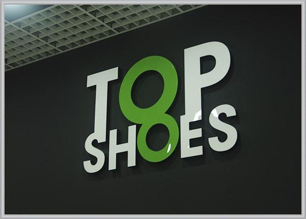 Интерьерная световая вывеска на магазин обуви